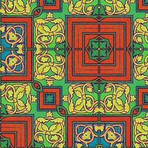 Craftsman Four Square Linoleum
