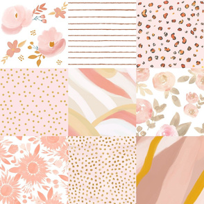 soft blush floral cheater quilt