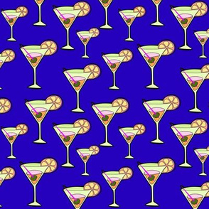 Martinis On Blue