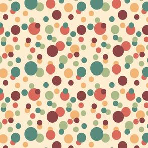 60s colorful bubbles