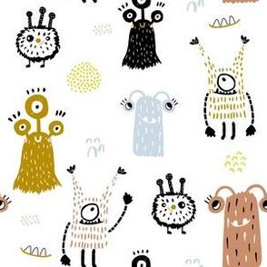 Creative monsters unisex pattern