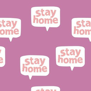 Inspirational text nurse design stay home save lives corona virus lilac peach pink purple leopard spots