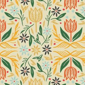 Nordic Floral in Cream