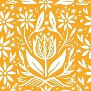 Tulip Tile in Yellow