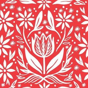 Tulip Tile in Red