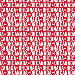 oh canada uppercase XSM maple leafs reversed || canada day canadian july 1st