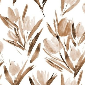 Earthy tulips for princess - watercolor florals p264