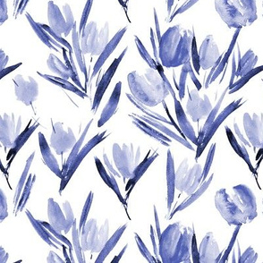 Amethyst tulips for princess - watercolor florals p264