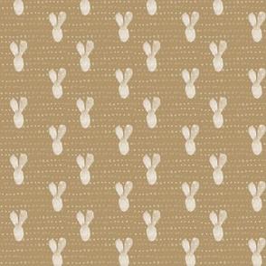 20-04x Boho Bunny Yellow Gold Ochre Mustard