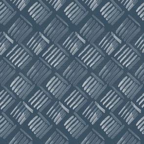 20-04v Boho Basket Weave Denim Blue