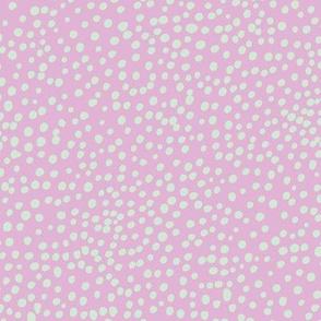 Wild cat cheetah spots boho animal print abstract basic spots and dots in raw ink cheetah dalmatian neutral cool lilac violet mint