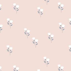 Sweet tulip flowers spring summer garden botanical Scandinavian minimalist design nursery soft beige sand gray neutral