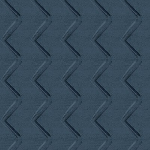 20-04l Boho Railroad Chevron Denim Blue