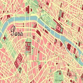 Titled Paris Street Map