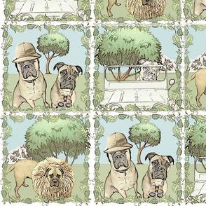Dogs on Safari light