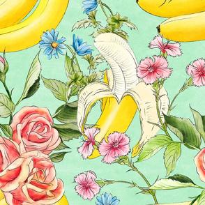 Banana chintz mint