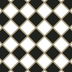 Black and Gold Checkers