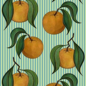 Orangepattern Stripes Blue Small