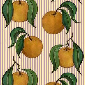 Orangepattern Stripes Purple Small