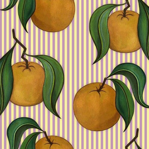 Orangepattern Stripes Purple Medium