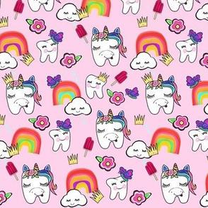 Unicorn & Rainbows / Crowns & Costumes / Fantasy Fun / Dental Tooth Design Med-Small