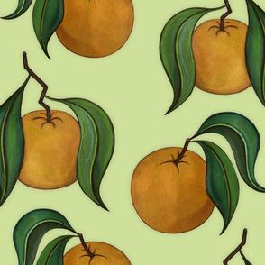Orangepattern Green Large