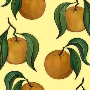 Orangepattern Yellow Large