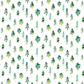 Tiny magic woodland - watercolor fir tree p265