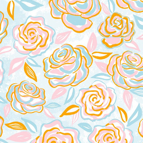 sketchy roses/large