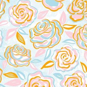 sketchy roses/medium