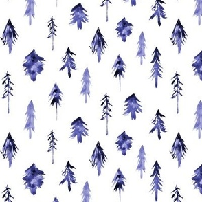 Amethyst magic woodland - watercolor purple christmas trees p265