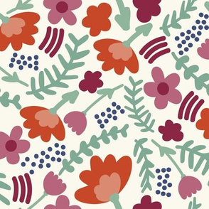 Summer flowers // Bright florals // Simple girls fabric // Pretty flowers for summer