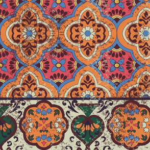 moroccan tile aged