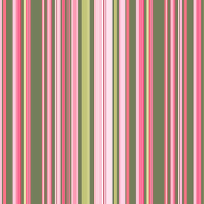Pink & Green Stripe