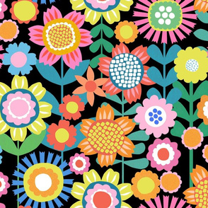 Flower Power - Black - Large Scale