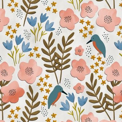 Papercut birds and florals