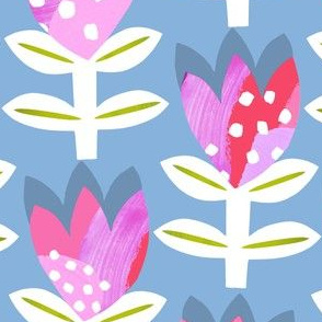 Tulipa Abstract - Blue grey