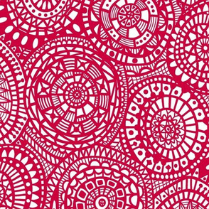 Paper Cutout Circles - Red
