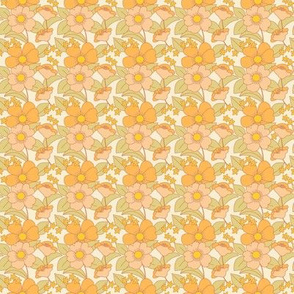 70s Floral Sunny - PLUS-  Reduced