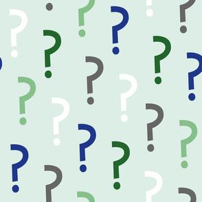 Question mark light green