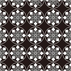 Flowered Tudor Windows