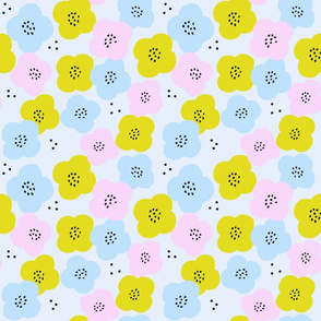 Ditsy floral blue pink