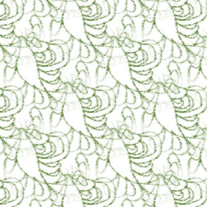 WDLD4 - Abstract Woodland Texture in Green and White