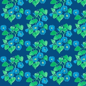 lots of morning glories classic blue tablecloth