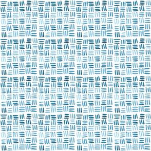 Small Blue Watercolor Cross Hatch