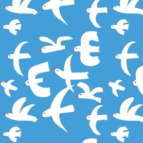 white bird cutouts
