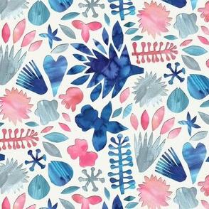 Watercolor Floral Papercut