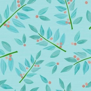Papercut painted leaves