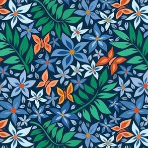 medium paper cut spring blue light blue