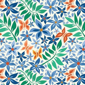 medium paper cut spring sand blue